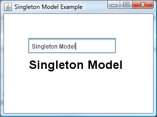 SingletonModelExample