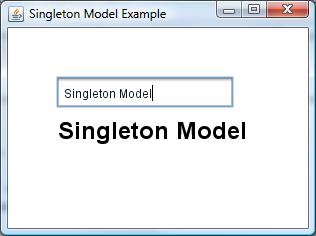 SingletonModelExample