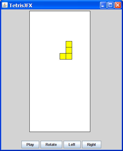 Creating a Tetris Program (Part Two) in Compiled JavaFX